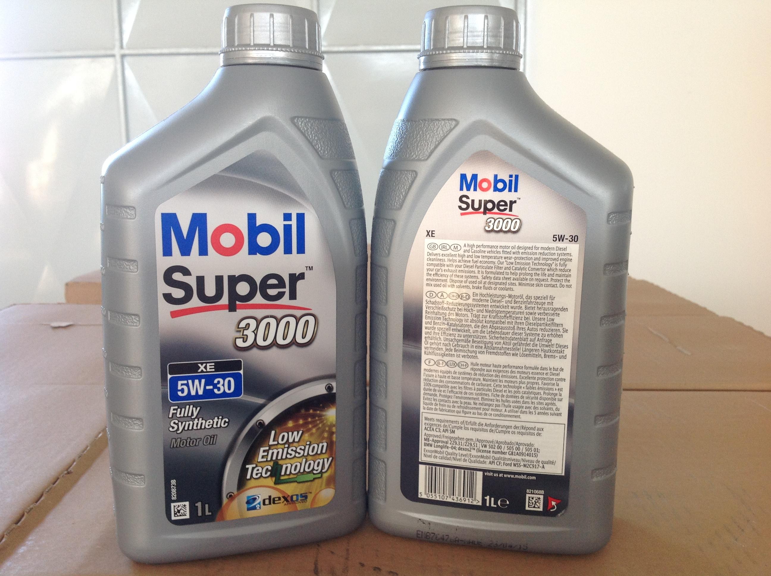 mobil super 3000 xe 5w30 un olio motore sintetico ad alte. Black Bedroom Furniture Sets. Home Design Ideas